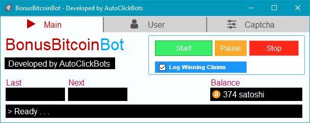 Bonus Bitcoin bot 2018 free